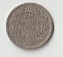 Chile 20 Centavos 1922 Randfehler - Chili