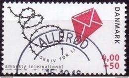 DENEMARKEN 2001  Amnesty Int GB-USED - Gebraucht
