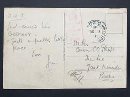 GB George V 1918 WW1 Postcard FPO D30 Cologne Postmark With Censor Cachet - Brieven En Documenten