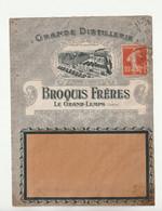 Lettre Illustrée Entreprise / Publicité: Grande Distillerie, Broques Frères, Le Grand-Lemps, Isère, 1913 - Covers & Documents