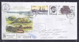TAAF N° 369+370+371 SUR LETTRE RECOMMANDEE DE MARTIN DE VIVIES/17.4.07  POUR LA FRANCE - Covers & Documents