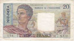 BILLETE DE BANQUE DE L'INDOCHINE DE NOUMEA DE 20 FRANCS DEL AÑO 1963 (BANKNOTE) - Other - Oceania