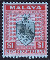 N Sembilan 1949 $1 SG60 UMM - Negri Sembilan