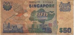 BILLETE DE SINGAPORE DE $50 DE UN PAJARO DEL AÑO 1976 (BANKNOTE) BIRD - Singapore
