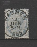 COB 39 Centraal Gestempeld Oblitération Centrale WASMES - 1883 Leopoldo II