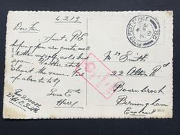GB George V 1919 WW1 Postcard FPO 28 - Rhine To Birmingham - Covers & Documents