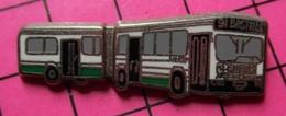 313a Pin's Pins / Beau Et Rare / THEME : TRANSPORTS / AUTOBUS URBAIN BLANC VERT ARTICULé BASTILLE Par BALLARD - Transportation