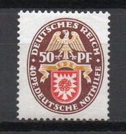 - ALLEMAGNE N° 425 Neuf * - 50 P. Armoirie Schaumbourg-Lippe 1929 - Cote 65,00 € - - Ungebraucht
