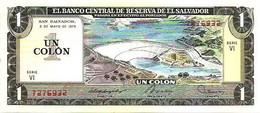 EL SALVADOR 1 COLON DAM FRONT MAN BACK DATED FRONT 01-05-1979 BACK 20-06-1979 UNC P125b READ DESCRIPTION !! - El Salvador