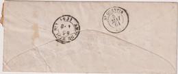 L. TP N°6 OB FRAMERIES-MAI 1861 POUR LA FRANCE-RECT-VERSO - Other