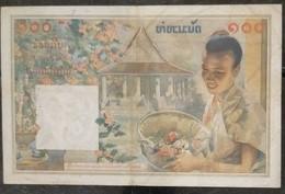 Indochina Indochine Vietnam Viet Nam Laos Cambodia 100 Piastres VF Banknote Note / Billet 1954 - Pick# 103 / 02 Photo - Indochina