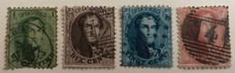 Belgique Médaillons 13/16 Oblitérés - 1863-1864 Medaillen (13/16)