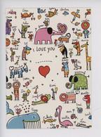 I Love You (nouvelles Images) Andrée Pringent Illustratrice (prénom Cp Vierge) Gina Po Emma Abou Peggy Sandile Martin - Humor