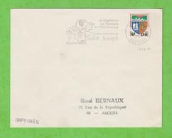 ILE DE LA REUNION - FLAMME SAINT JOSEPH SA VEGETATION SES PAYSAGES SA CÔTE SAUVAGE DE St JOSEPH 1966 - Mechanical Postmarks (Advertisement)