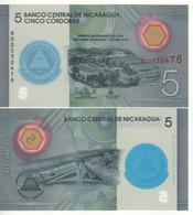 NICARAGUA.  New 5 Cordobas  POLIMER  Commemorative Issue 60th Anniversary Banco Central  2019  UNC - Nicaragua