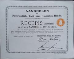 NEDERLANDSCHE HANDELSMAATSCHAPPIJ Nederland Russische Bank 1917 - Banco & Caja De Ahorros