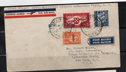 HORTA - 1940 - HORTA TO LAGUARDIA , NEW YORK  FIRST FLIGHT COVER WITH BACKSTAMPS - Horta