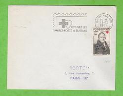 ILE DE LA REUNION - FLAMME SAINT DENIS REUNION UTILISEZ LES TIMBRES-POSTE A SURTAXE DE 1964 - Mechanical Postmarks (Advertisement)