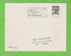 ILE DE LA REUNION - FLAMME LA REUNION SON VOLCAN MASSIF DE LA FOURNAISE ALT. 2630 M DE ST JOSEPH DE 1966 - Mechanical Postmarks (Advertisement)