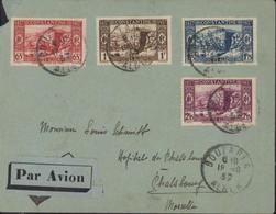 Algérie YT 131 à 134 Vue Constantine En 1837 CAD Bouzareah Alger 18 10 37 Transit Alger Gare Section Avion - Briefe U. Dokumente