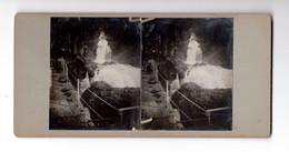 "12278 "" GIESBACH FALLS-JULI 1874 "" -VERA FOTO - Stereoscoop"