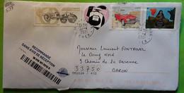 Lettre Recommandée SANCERGUES Cher Auto 204 PEUGEOT CABRIOLET,  Fardier De Cugnot, Coeur Chanel, Bearn , 2021, TB - Voitures