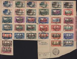 Nouvelle Calédonie YT 1928 à 1939 Surchargés France Libre Quasi Complet Sans N° YT 228 Sur Fragment Nouméa 1942 Censure - Used Stamps