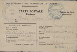 Prisonniers 40 Dépôt Prisonniers De Laon Aisne Cachet Censure Dépôt Des PG N°21 Contrôle 522 FM 31 VII 45 - 2. Weltkrieg 1939-1945