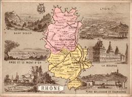 CHROMO Librairie Hachette Département Du Rhône (69) Villefranche-sur-Saône Lyon Tarare Monsols Vaugneray Amplepuis - Other