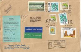 Canada , Fundy Wave , Flowers , Pine , Mississauga Postmark , Customs Label - Briefe U. Dokumente