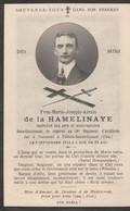 Militaria , De La HAMELINAYE , Tué à L'ennemi à Villers Saint Genest , 51 Régiment D'artillerie , 8 Septembre 1914 - Obituary Notices