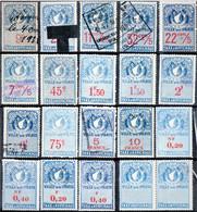 PARIS Taxes D'affichage FISCAL FISCAUX AFFICHES AFFICHAGE REVENUE - Fiscale Zegels