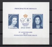 - MONACO Bloc N° 48a Neuf ** MNH NON DENTELÉ - FONDATION PRINCESSE GRACE KELLY 1989 - - Blocks & Kleinbögen