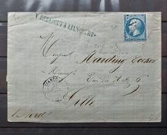 04 - 21 / France - Lettre - N°22 Oblitéré GC 2031 Liancourt - Oise à Destination De Lille - 1862 Napoleon III
