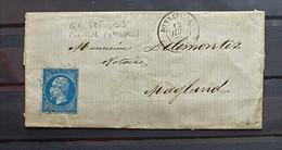 04 - 21 / France - Lettre - N°22 Oblitéré GC 525 - Bonneville - Ht Savoie  à Destination De Magland - 1862 Napoleon III