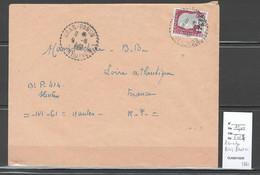 Reunion - Lettre BRAS PANON - Cachet  Pointillé -1961 - Storia Postale