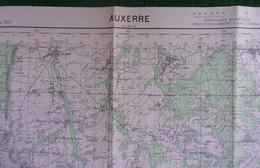 Carte De France Type 1922 - Yonne - Auxerre Et Alentours - Cartes Géographiques