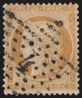 N°36, Oblitéré étoile De Paris 4, Cérès Siège De Paris 1870, 10c Bistre - TB - 1870 Siege Of Paris