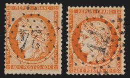 """France N°38 Variété """"timbre De Grand"""" + Normal, Cérès Siège De Paris - TB - 1870 Siege Of Paris"""