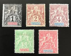 DAHOMEY 1900 - NEUF*/MH - LOT 2 + 6 + 7 + 8 + 9 - CV 21 EUR - Nuevos