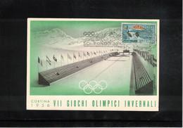 Italia / Italy 1956 Olympic Games Cortina D'Ampezzo - Cross-country Skiing Interesting Postcard - Winter 1956: Cortina D'Ampezzo