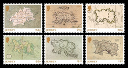 Jersey 2021 Mih. 2451/56 SEPAC. Historical Maps MNH ** - Jersey