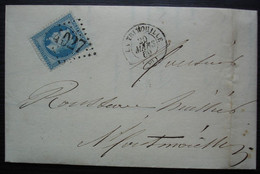 La Trimouille (Vienne) 1869, L Robin Lettre Pour Montmorillon - 1849-1876: Classic Period