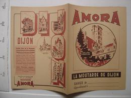 Ancien Protege Cahier AMORA Moutarde De Dijon Tour Du Guet Philippe Le Bon - Mostard