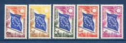 ⭐ France - Timbres De Service - YT N° 17 à 21 ** - Neuf Sans Charnière - 1958 Et 1959 ⭐ - Nuovi