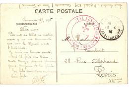 HOPITAL AUXILLIARE N° 17 . CAUSSADE +VUE DU CHATEAU - Oorlog 1914-18