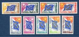 ⭐ France - Timbres De Service - YT N° 27 à 35 ** - Neuf Sans Charnière - 1963 à 1971 ⭐ - Neufs