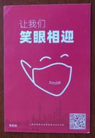 I Promise,I Practice,mask,CN 20 Fight COVID-19 Propaganda PMK Used On Fight Novel Coronavirus Pneumonia Not For Sale PSC - Malattie