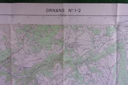 Carte Géographique - Numéros 1 Et 2 - Doubs - Ornans Et Alentours - Mapas Geográficas