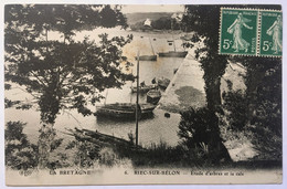 LA BRETAGNE.     6. RIEC-SUR-BÉLON _Étude D'arbres Et La Cale - Otros Municipios